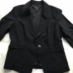 St. John Black Blazer Plus Size 16